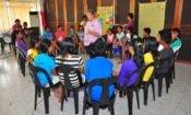 """A Peace Corps volunteer sets up activities in Drama by discussing the differences in """"child labor"""" and """"child work."""""""
