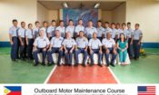 USCG and PCG personnel take time out of their training schedule for a group photo, Visayas District Office, Cebu City