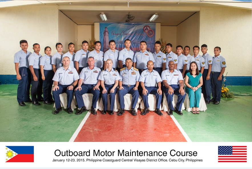 Us and philippine coast guards conduct training for for Outboard motor repair training online