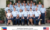 USCG and PCG personnel take time out of their training schedule for a group photo, Southern Tagalog District Office, Batangas City.