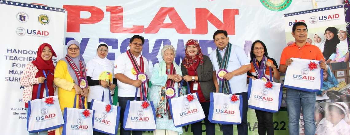 U.S. Government Provides Teacher's Kits to Schools in Marawi and Surrounding Areas