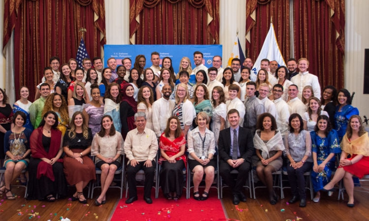 Ambassador Kim Administers Oath To 63 New Peace Corps Volunteers